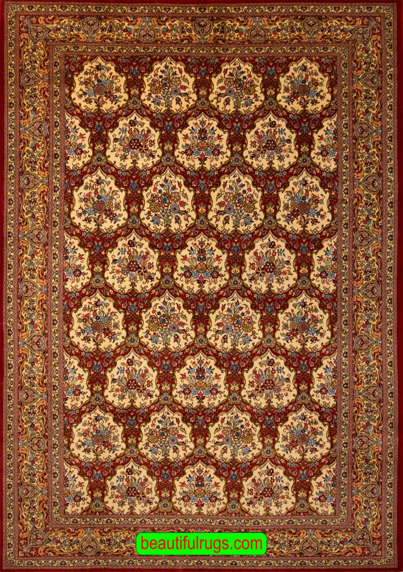 Garden Design Rug Hand Knotted Persian