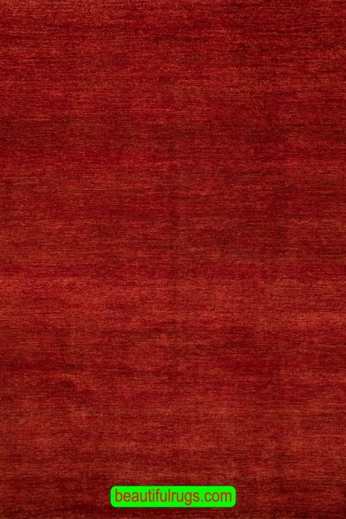 Contemporary Rug, Handmade Gabbeh Style Rug, Red Color 8x10 Rug, main image