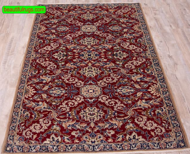 """Nain Rug """"Oriental Rugs"""" Persian Rugs for sale   Rug Iran   Entryway Rug, close up image, size 3.7x5.7"""