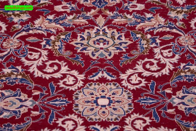 """Nain Rug """"Oriental Rugs"""" Persian Rugs for sale   Rug Iran   Entryway Rug, backside image, size 3.7x5.7"""