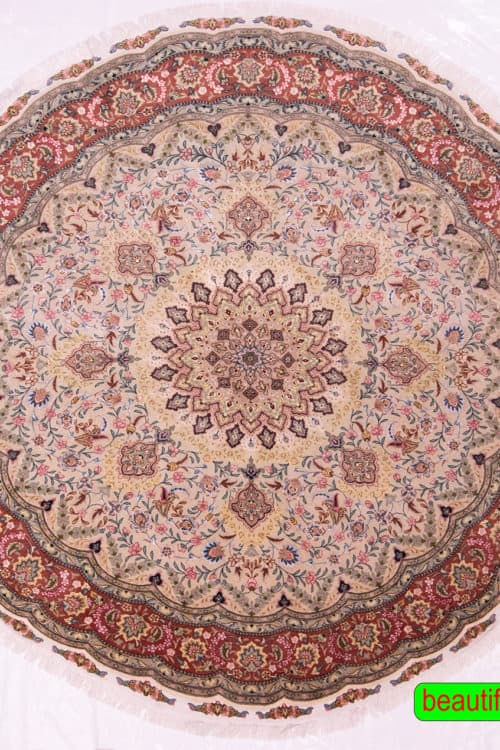 Round Rugs   Persian Rugs   Round Area Rugs   6 Feet Round Rug, main image, size 6.8x6.8