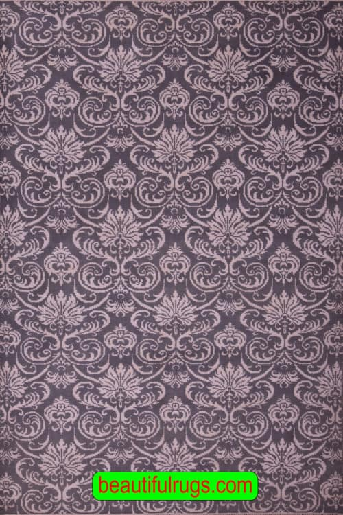 6×9 Gray and White Rug, Designer Contemporary Rugs, main image, size 6.1 x 9