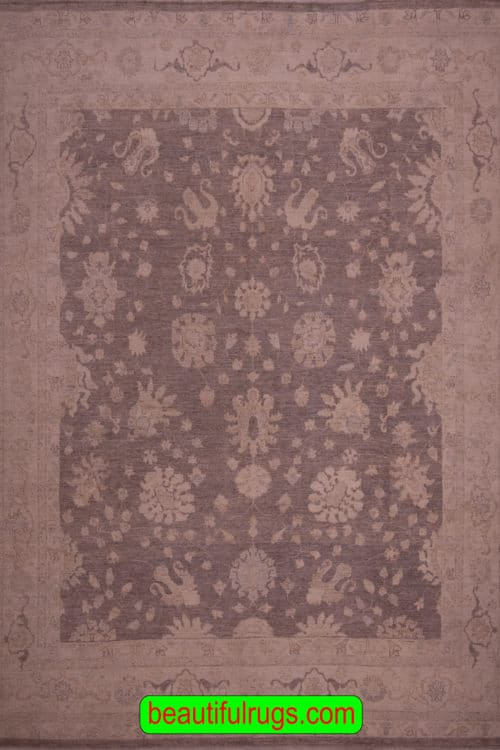 Turkish Rug Pattern, Muted Brown Color Living Room Rug, main image, size 8.2x9.5