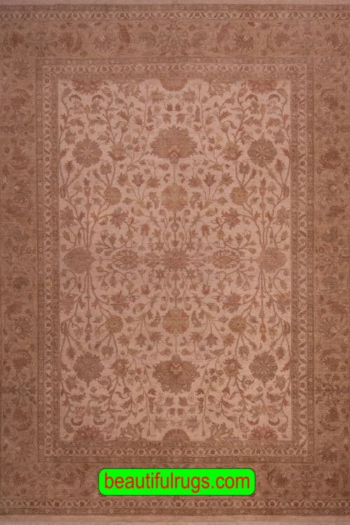 Oushak Style Rug, Pastel Brown Color Rug, main image, size 8.8x11.8