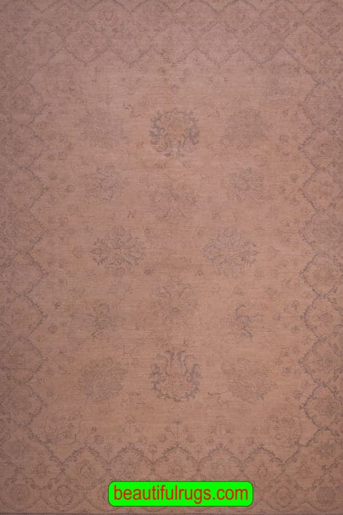 Oushak Style Rug, Muted and Soft Color Rug, main image, size 8.10x11.5