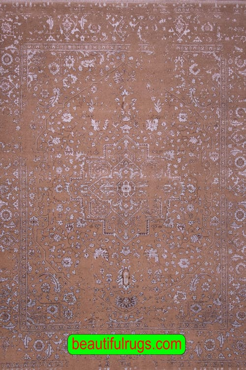9×12 Rug, Brown and Gray Blue Color Contemporary Rug, main image image, size 9.1x12