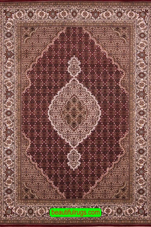 Traditional Oriental Rug, Red Color Indian Rug, size 5.8x8.5, main image