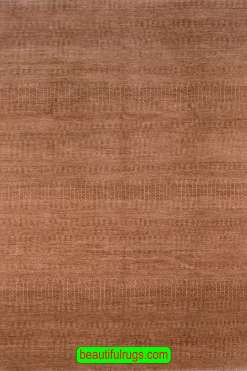 Brown Color Rug, Contemporary Striped Rug, size 6.2x8.10, main image