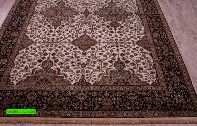Persian Pattern Rug, Traditional Oriental Rug, size 6.2x9.1, close up image