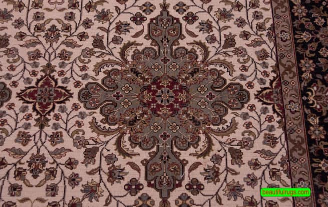Persian Pattern Rug, Traditional Oriental Rug, size 6.2x9.1, backside image